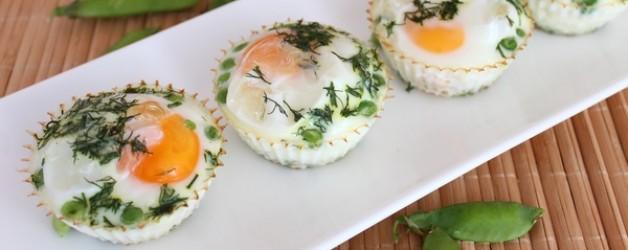 Яйца в духовке. Запеченные яйца с горошком