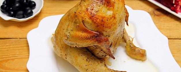 Курица на бутылке в духовке видео рецепт