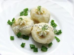 Кнедлики картофельные с сыром и укропом