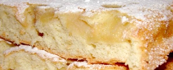 Пирог с яблоками. Бисквит с яблоками рецепт с фото