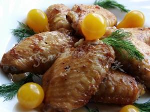 Крылышки в соевом соусе с имбирем и медом
