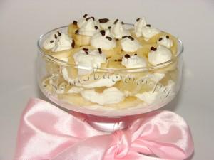 Десерт творожный с бананом и помело
