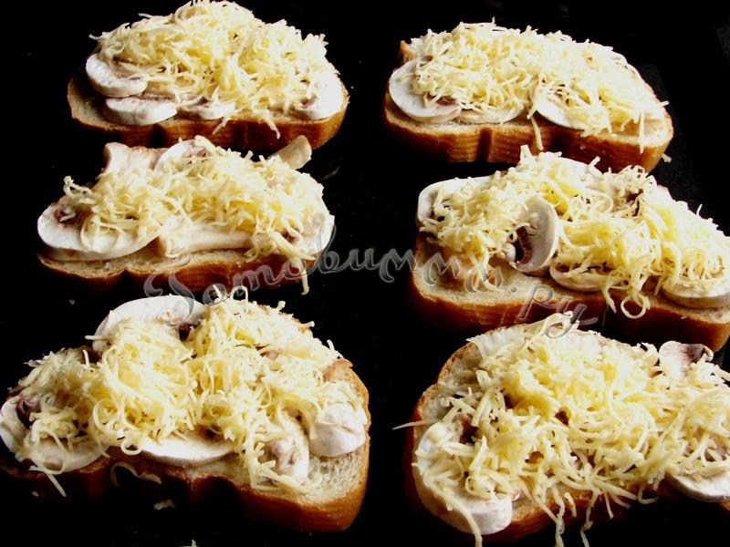 Горячий бутерброд в духовке из багета