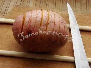 Картошка-гармошка рецепт с фото