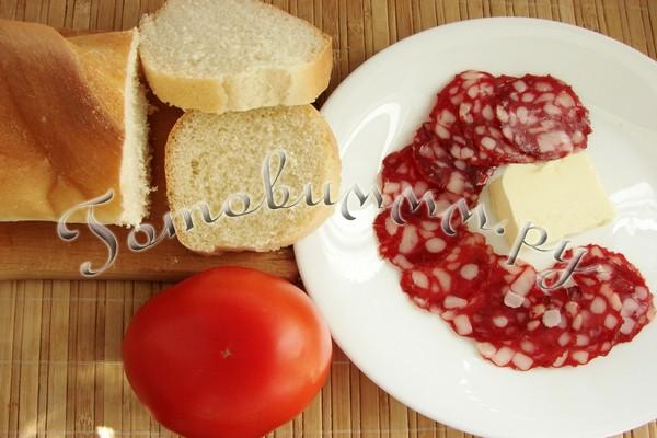 Бутерброды с колбасой