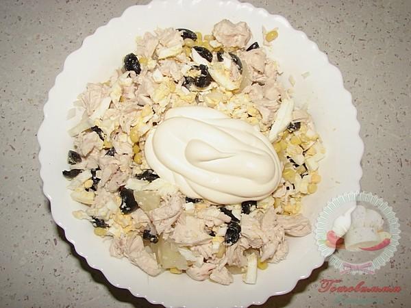 Салат куриный с ананасами рецепт с фото