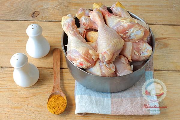 Куриные голени в духовке с карри
