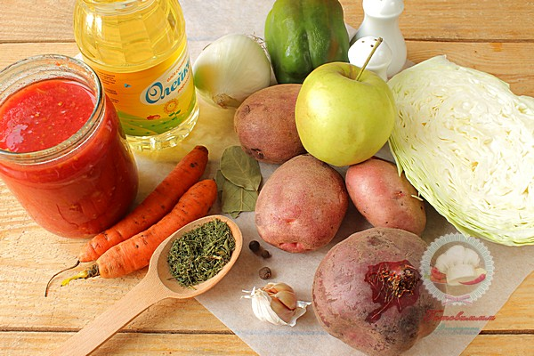 Как приготовить борщ со свеклой и яблоком