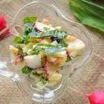 Салат из редиски и черемши
